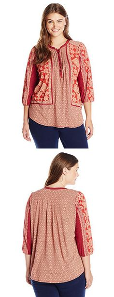 a0e8fe551137a Ruby Rd. Women s Plus Size Cowl-Neck Shimmer Jacquard Spots Top in Combo