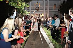 Toss fall leaves for the bride and groom exit! - Fall Wedding