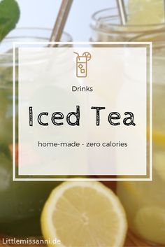 Iced tea recipes are a must for summertime! They're easily made and without any conventional sugar to keep it a guilt-free pleasure during hot days!