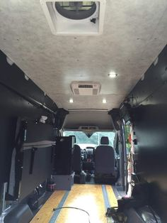 Interior View of completed 2015 Ford Transit Cargo Van.