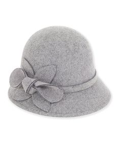 Take a look at this Gray Flower-Accent Cloche today! Grey Flowers 9528cc39ca02