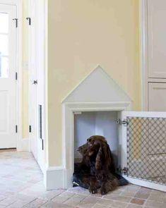 Built in dog crate... Cute!