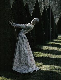 moldavia:  Marie Piovesan in Vogue Italia March 2012 by Deborah Turbeville