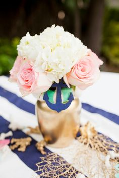 nautical wedding shower tying the knot... mint green, navy, pink and gold