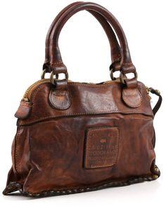 Campomaggi Lavata Satchel Leather cognac 28 cm - C1295VL-1702 | Designer Brands :: wardow.com