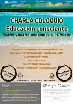 Próximamente en el Centro de visitantes Parque Natural Bahía de Cádiz, charlas de la mano del psicólogo Julio Becerra. Abiertas a todo aquel que quiera asistir, hasta completar aforo.