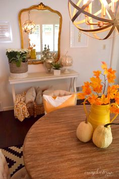 It's time to take a trip to the pumpkin patch and to your local HomeGoods for some new Fall accessories.  Large vases and baskets filled with flowers and branches from the season will look superb in any room! HomeGoods Sponsored Pin.