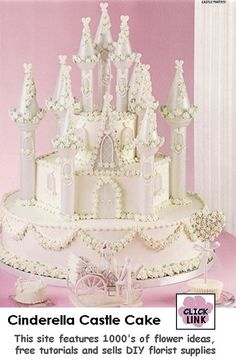 Use Wilton Castle Cake Kit to create this lovely Cinderella Fairy Tale themed wedding cake $36.14