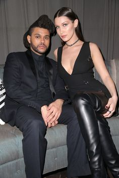 Bella Hadid & The Weekend || 2016 Grammys After Party