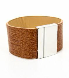 Magnetic Leather Belt Bracelet