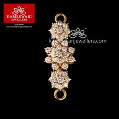 Shop bridal jewellery and South Indian mangalsutra online from Kameswari Jewellers! Diamond Mangalsutra, Diamond Solitaire Necklace, Diamond Necklaces, Diamond Jewelry, Gold Necklace, Nameplate Necklace, Gold Chain Design, Gold Jewellery Design, Bridal Jewellery Online