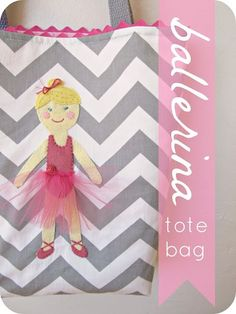 homemade by jill: ballerina tote bag