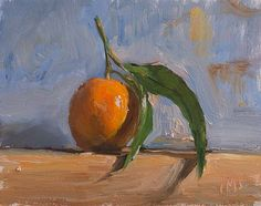 Clementine on a blue ground. Postcard from Provence is a diary in daily paintings by British artist Julian Merrow-Smith.