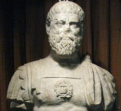 Pertinax, the 19th Roman emperor. He was the first of the emperors in the year of the five emperors. He was assassinated 3 months after taking office by the Praetorian Guard after trying to reestablish discipline within their ranks.