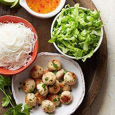Gluten Free Chicken Meatball Noodle Bowl