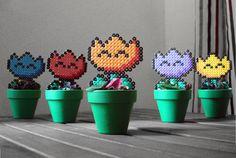 Super Mario a inspiré en pot plante rétro fleur de par BeadxBead