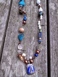 Hey, I found this really awesome Etsy listing at https://www.etsy.com/listing/196676124/silver-aqua-and-copper-upcycled-recycled