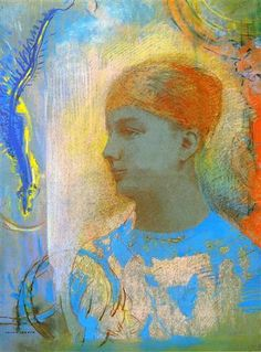 Young Girl Facing Left - Odilon Redon