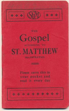 Gospel According to St. Matthew (ca. Page Plus, Saint Matthew, Religious Books, Rose City, Songs, Pocket, American, Reading, Cover