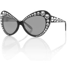 Crystal Cat Eye Sunglasses (585 CAD) ❤ liked on Polyvore featuring accessories, eyewear, sunglasses, cat eye sunnies, cateye sunglasses, crystal glasses, cat-eye glasses and crystal sunglasses