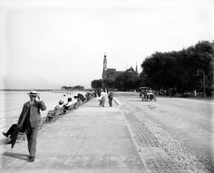 Early 1900s Chicago Waterfront Lake Shore Drive Photo