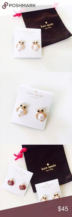 ❗️ALMOST GONE❗️Kate Spade little owl stud earrings Brand new never worn super cute little owl stud earrings from Kate Spade. Beautiful gold plated with pearl, very cute on the ear! kate spade Jewelry Earrings