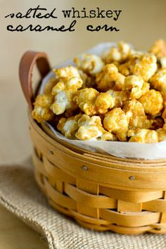 Wow! I love our Bacon Bourbon Caramel flavor, but this sounds pretty amazing! Salted Whiskey Caramel Corn #popcorn #inspiration #bacon