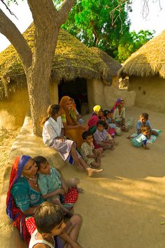 Bishnoi tribal village, Rajasthan, India