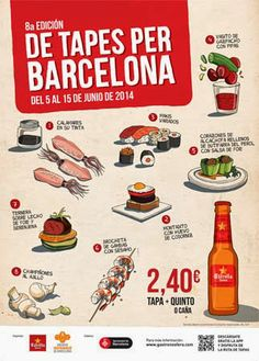 """More Beatus Ille - Simple recipes, easy cooking and curious gastronomy. : """"De Tapes per Barcelona"""" - 8th edition"""