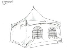 Chinese Hat, Marquee Hire, Gazebo, Outdoor Structures, Vintage, Kiosk, Pavilion, Vintage Comics, Cabana