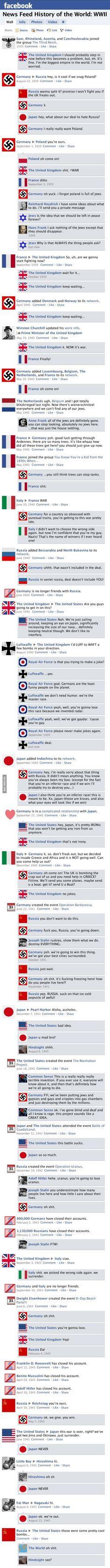 2. Verdenskrig facebook-feed