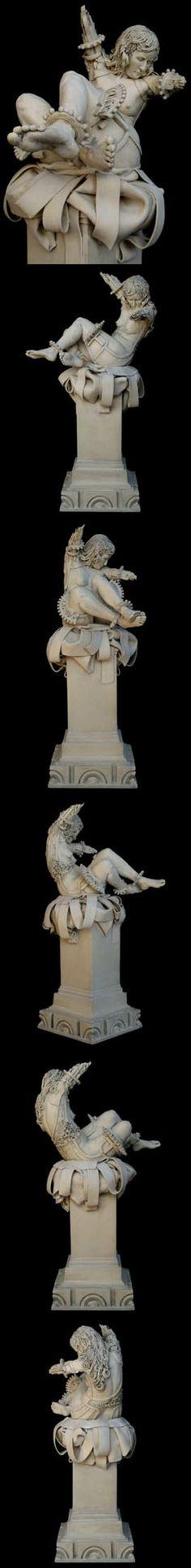 "Just breathtaking. Clea Carlsen ""NIKE FALLEN"" Ceramic sculpture."