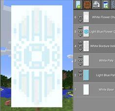 Minecraft Winter Banner - Minecraft World Minecraft Pixel, Craft Minecraft, Plans Minecraft, Minecraft Room, Minecraft Tutorial, Minecraft Blueprints, Minecraft Creations, Minecraft Designs, Minecraft Furniture
