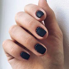 New nails design invierno 2018 23 ideas New Nail Designs, Nail Polish Designs, Nails Design, Trendy Nails, Cute Nails, Hair And Nails, My Nails, Gelish Nails, Minimalist Nails