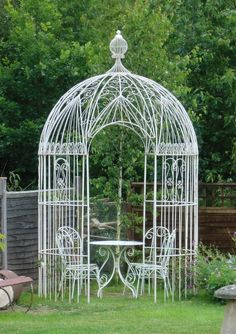 Wirework Gazebo in Gardenalia - Gazebos and Plant Supports from The Vintage Garden Company
