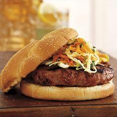 Pork Burgers with Apple Tarragon Slaw | Organic Recipe Book