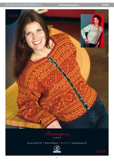 Bilderesultat for rauma 1289 jakke Norwegian Knitting, Fair Isle Knitting, Nordic Style, Hobbies And Crafts, Knit Crochet, Knit Sweaters, Norway, Ravelry, Crocheting