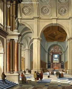 Bartholomeus van Bassen Interior of a Vaulted Church, painting Authorized official website