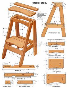 Kitchen Step Stool Plans - Furniture Plans
