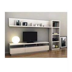 17 veces he visto estas agraciadas muebles minimalistas. Tv Unit Decor, Tv Wall Decor, Tv Unit Furniture, Furniture Design, Modular Furniture, Tv Wall Design, House Design, Home Living Room, Living Room Decor