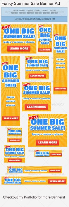 Web banners, banner designs, banner designer  Sandy Rowley favorites.  Beautiful banner design. Call anytime 775 453 6120. www.renowebdesigner.com   Summer Sale Banner Ad Template - GraphicRiver Item for Sale