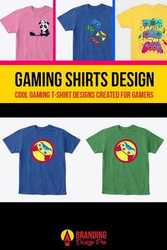 Gaming Shirts | A collection of gaming shirt designs from the brands Just Gaby Gaming, Jay's Xtreme Gaming, and Kenal Louis. Creative, Cute, Artistic, Cool Graphic Tees for Gamers. Gamer Tee Shirts. Get The Shirt You Love today! #gamer #tees #tshirt #shirts Custom T, Custom Wall, Cool Graphic Tees, Graphic Design, Splinter Cell, Gamer Shirt, I Love Mom, Shirt Store, Personalized T Shirts