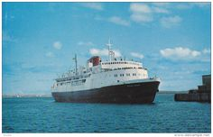 "Nouvelle-Écosse - Ferry M.V. ""William Carson"" , NORTH SYDNEY , Nova Scotia , Canada , 50-60s"