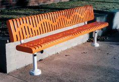 Park Bench. Outdoor Recycled, Iron, Plastic & Metal Park Benches - - 8Ft. Commercial Park Benches with Back, Inground Mt.VMWCB8WBCLASSROLLS