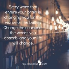 Here is a simple exercise you can start practicing today: become aware of the words you receive from all your external sources and then ask yourself the question: Are these words helping me to grow and expand?  https://healthruwords.com/inspirational-pictures/external-words/  #HealThruWords #powerofwords #change