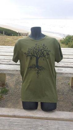 Kahki Tree of Life Tee by Spiriteesbysteve on Etsy
