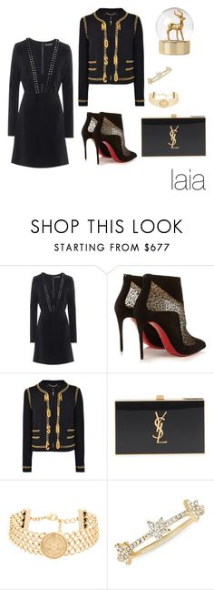 """Senza titolo #2407"" by mrsagati on Polyvore featuring moda, David Koma, Christian Louboutin, Moschino, Yves Saint Laurent, Balmain e EF Collection"