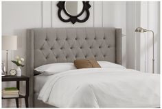 One Kings Lane - The Art of Upholstery - Monroe Wingback Headboard, Gray
