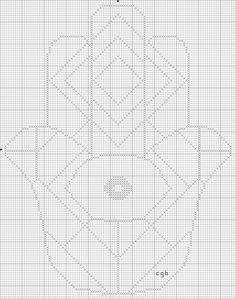 Free Hamsa Cross Stitch Pattern Collection: Free Hamsa Two Cross Stitch Pattern
