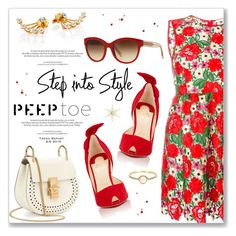 """Pedi Time: Peep-Toe Pumps"" by dressedbyrose ❤ liked on Polyvore featuring moda, P.A.R.O.S.H., Louis Vuitton, Christian Louboutin, Chloé, CA&LOU, Burberry e Irene Neuwirth"